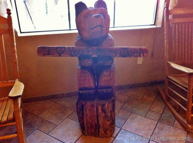 The Grand Hotel carved bear