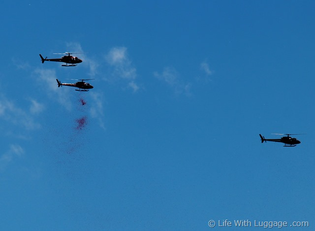 Helicopters D Day Rose Petals