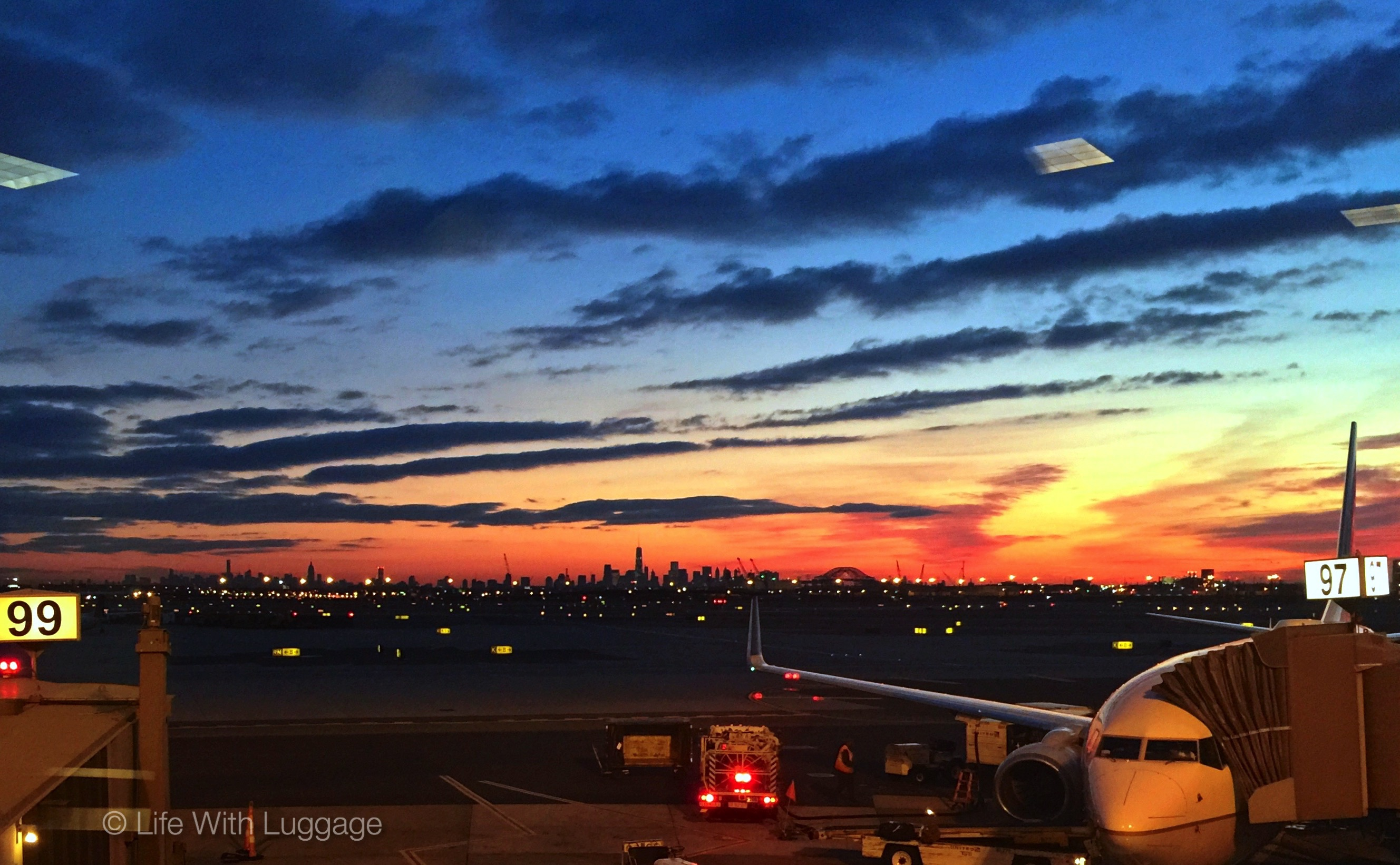 Newark Airport sunrise